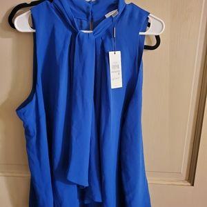 NWT Calvin Klein Blouse 1X Blue